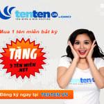 Tenten.vn giảm giá một loạt tên miền quốc tế