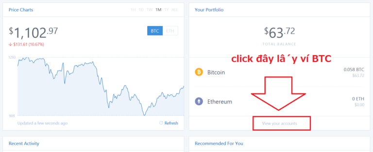 Tạo địa chỉ ví Bitcoin với coinbase.com