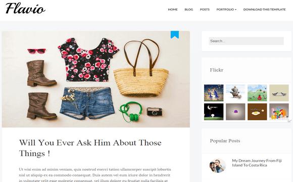 Flavio Simple Blogger Template