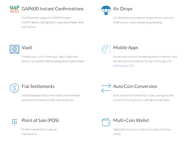 Coinpayment 2a CPS coin Airdrop, nhận miễn phí 100 CPS từ Coin Payments