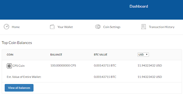Coinpayment 3 CPS coin Airdrop, nhận miễn phí 100 CPS từ Coin Payments